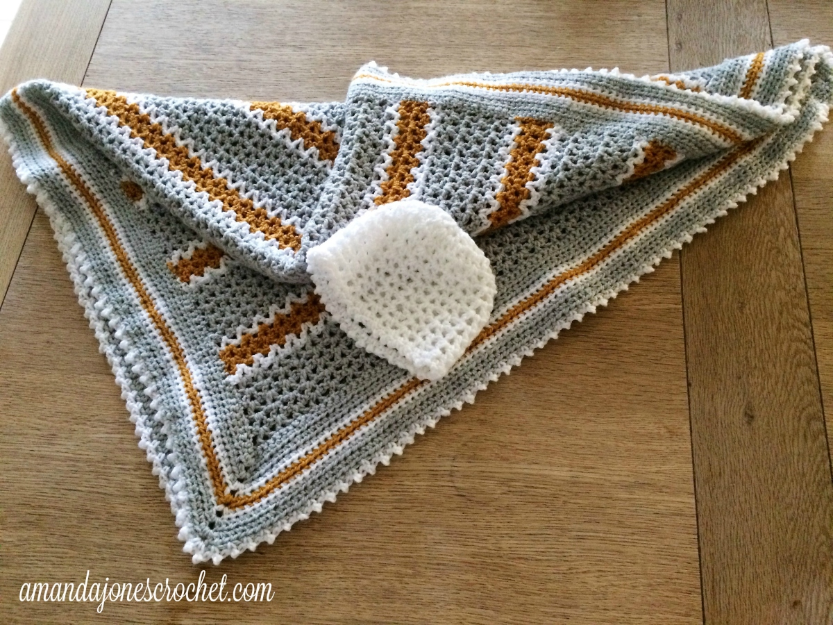 V-Stitch Baby Blanket Pattern ? Amanda Jones Crochet