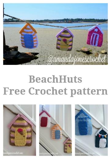 Beach Huts Pin